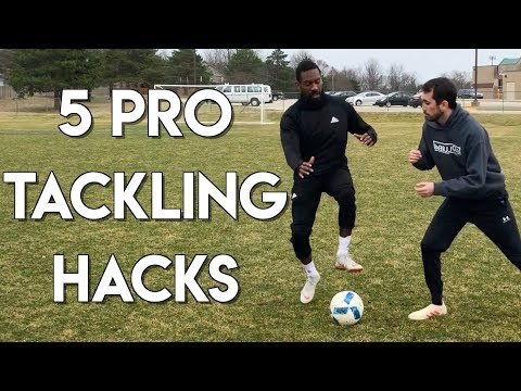 5 WAYS TO WIN EVERY TACKLE - HOW TO TACKLE IN FOOTBALL - DEFENDING HACKS