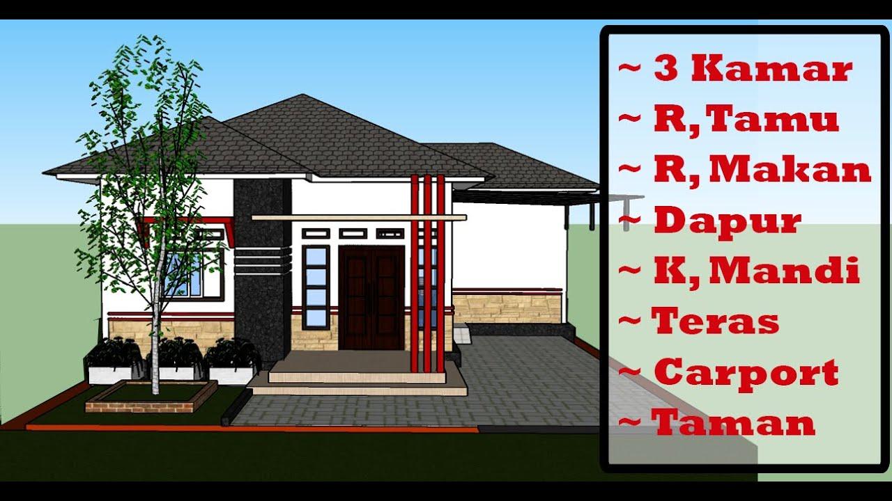 Desain Rumah Minimalis 9x10 Meter 3 Kamar - MZU OFFICIAL - YouTube