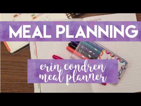 Meal Planning in the Erin Condren Meal Planner