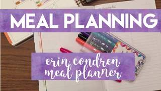Meal Planner - Meal Planning in the Erin Condren Meal Planner
