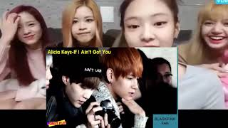 Blackpink reaction to When Bangtan cover sings other artists' songs without great music