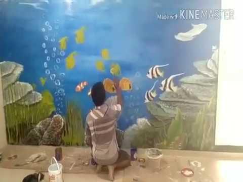 Lukisan Di Bawah Laut Dinding