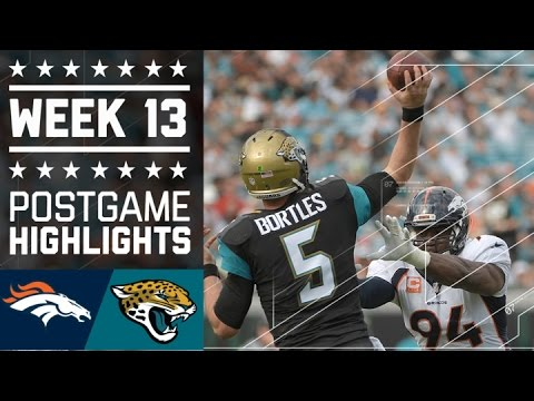 Broncos vs. Jaguars | NFL Week 13 Game Highlights