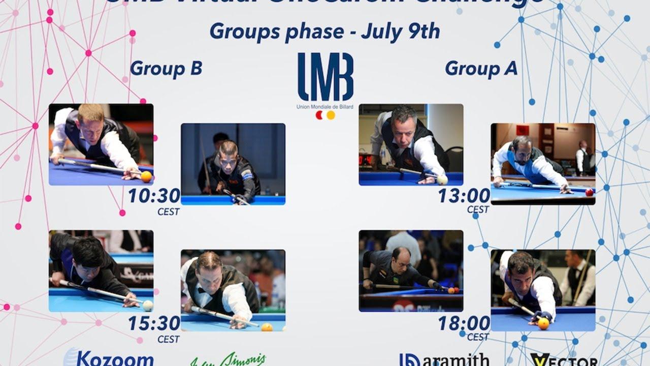 [UMB Virtual OneCarom Challenge] Round 2 LIVE / Dick JASPERS (NL) vs Semih SAYGINER (TR)