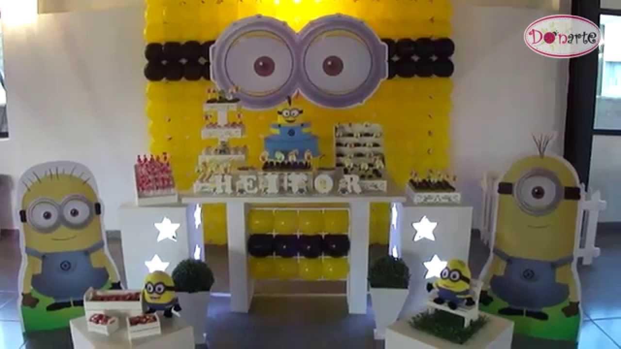 decoracao festa minions : decoracao festa minions:Kit Locação Decoração de Festa Tema Minions Donarte (meu malvado
