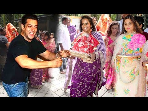 Salman Khan's GRAND SWAGAT For Family Ganpati 2019 At Sis'trs Arpita-Alvira Khan's Bandra House Mp3