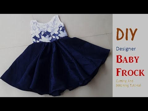 3f97ee7f8041 DIY Designer Baby Frock Cutting And Stitching Full Tutorial - YouTube