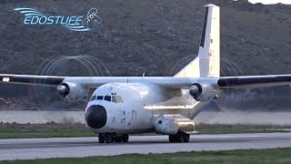 Luftwaffe Transall C-160D - Short Takeoff with Awesome Propeller Tip Vortices