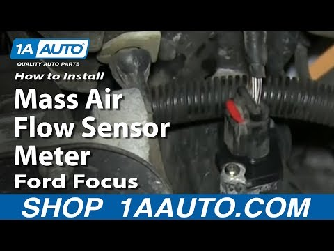 How To Install Replace Mass Air Flow Sensor Meter 2005-07 Ford Focus