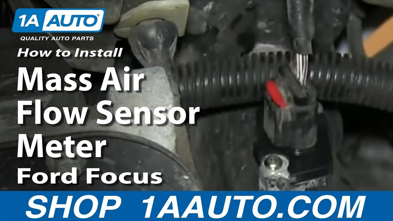 how to replace air flow meter sensor 03 11 ford focus [ 1280 x 720 Pixel ]