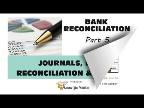 BANK RECONCILIATION 5 - Journals, Bank Reconciliation and Ledger