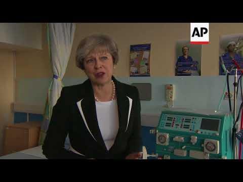UK PM looks forward to making progress in Brexit talks