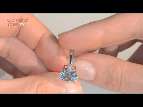 Diamond and 2.60ct Blue Topaz 9K White Gold Ring - E5748