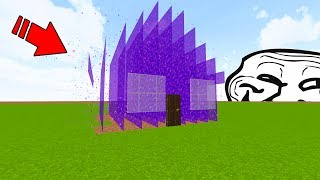 TURNING PLAYERS HOUSES INTO PORTALS (Minecraft Trolling)