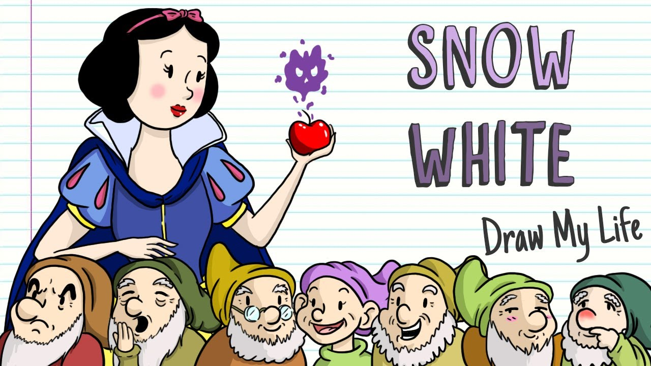 SNOW WHITE AND THE SEVEN DWARFS THE DARK STORY | Draw My Life