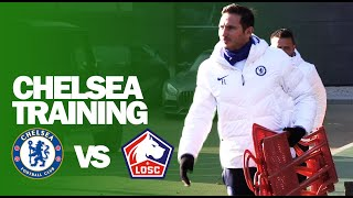 Frank Lampard ALL SMILES In Chelsea Training Ahead of Lille Champions League Match