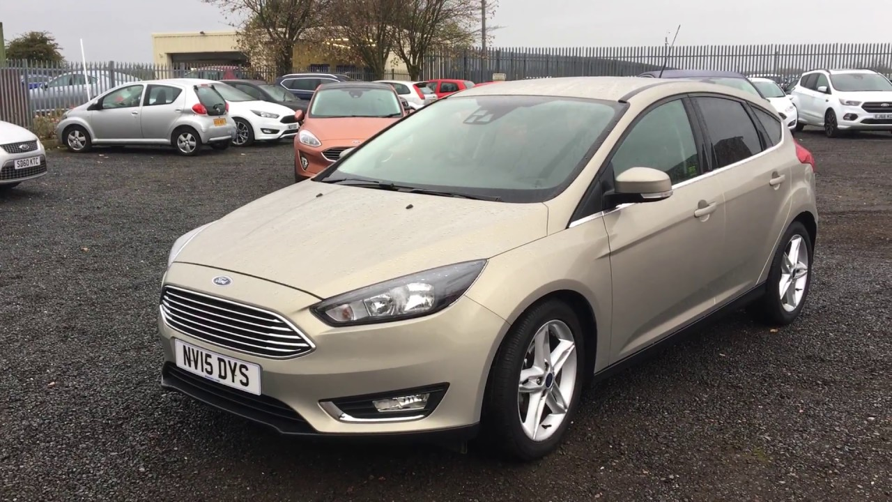 used ford focus 1 0 ecoboost titanium 5dr tectonic silver 2015 youtube. Black Bedroom Furniture Sets. Home Design Ideas