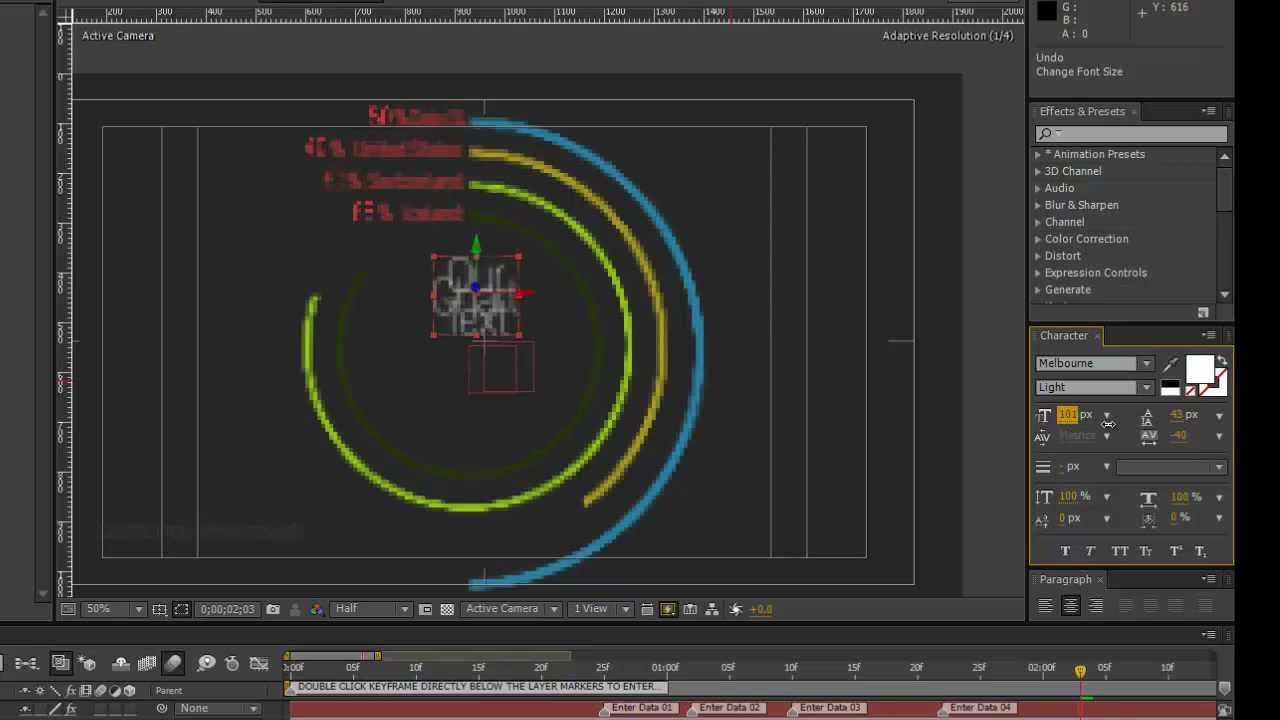 Infographics After Effects Template- Concentric Circle ...