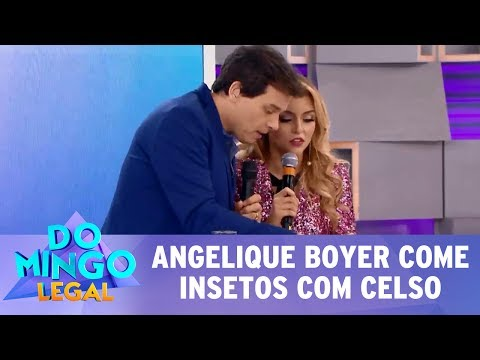Domingo Legal (16/07/17) - Angelique come insetos com Celso Portiolli