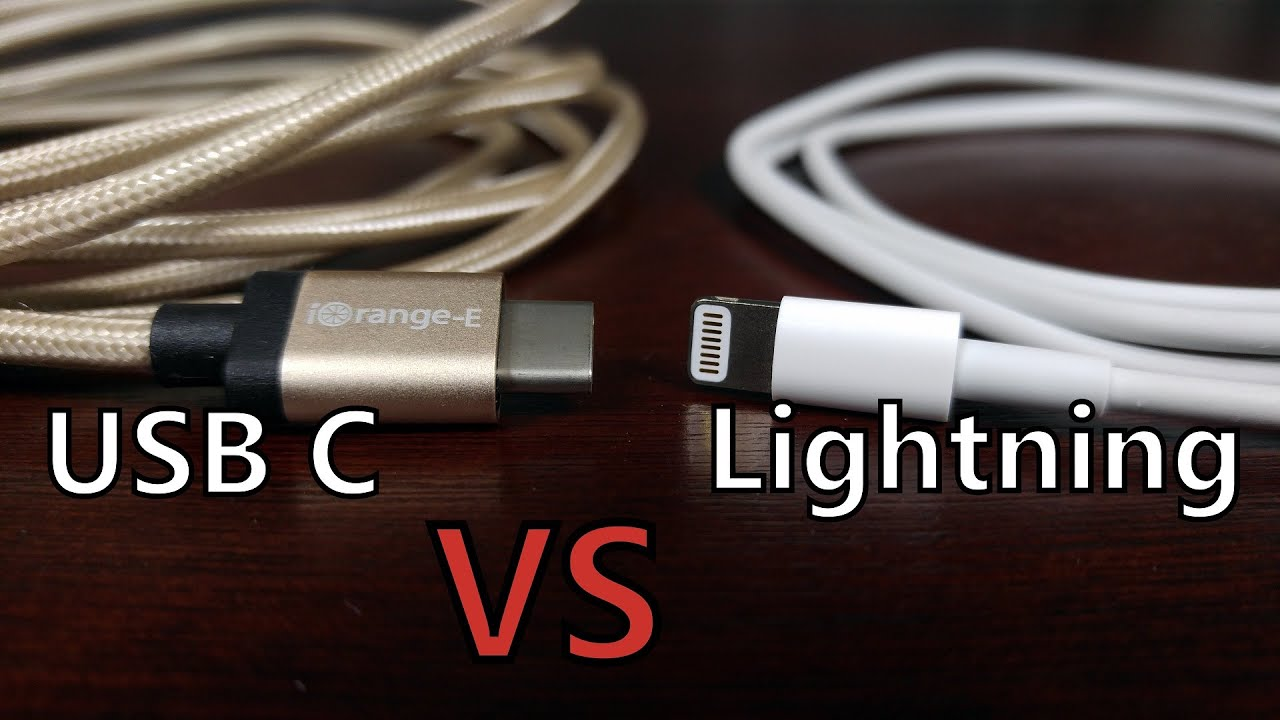 cable fight usb type c vs apple lightning connector youtube. Black Bedroom Furniture Sets. Home Design Ideas