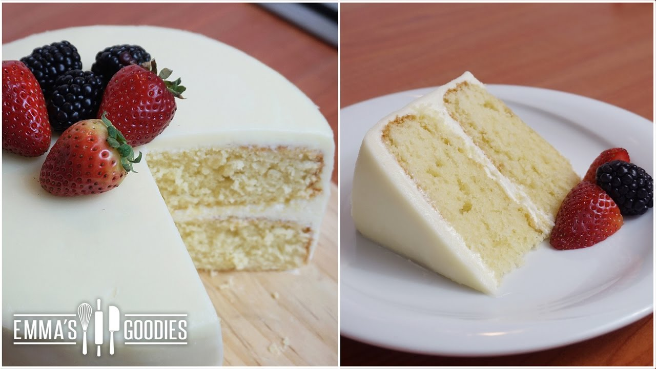 Moist Vanilla Cake Recipe Emmas Goodies
