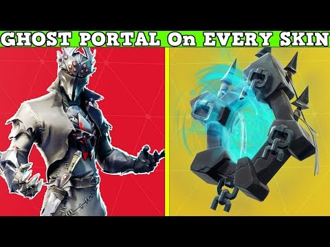 *NEW* GHOST PORTAL BACKBLING On EVERY SKIN! Fortnite Battle Royale!