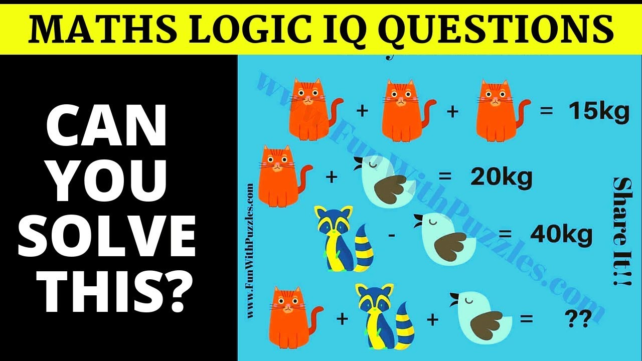 #MATHS #LOGIC #QUESTIONS WITH ANSWERS - YouTube