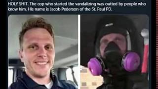 Umbrella Man Cop Jacob Pederson Starts Vandalism in Minneapolis