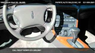 1998 Lincoln Mark VIII 2dr Cpe - for sale in Medford, NY 11763