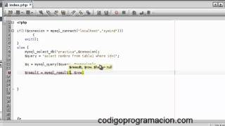 Conexión a Bases de datos con PHP y MySQL parte 2(conexión con mysql_connect en php) Mp3