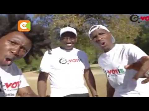 "Uhuru, Ruto and Raila in ""Thitima' voter registration mobilization anthem"