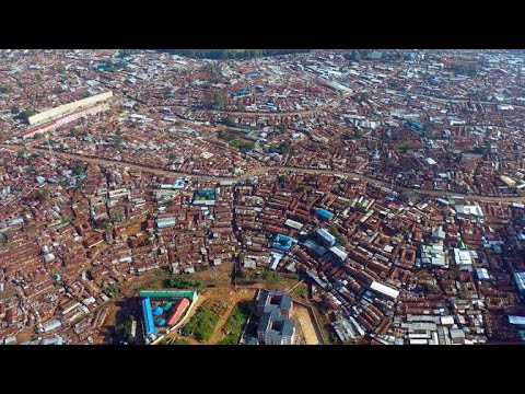 Driving through the Biggest Slum in Africa. KIBERA Slum in Nairobi Kenya