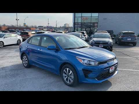 2021 KIA Rio S Technology in Sporty Blue with Gray