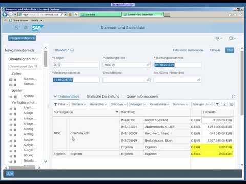 SAP Fiori - Trial Balance
