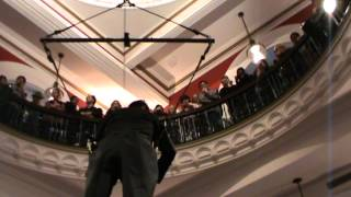Amazing Aerial Display Of Playing Violin In Qvb Building (part 1)