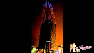 AlHamra Tower Flag Lights