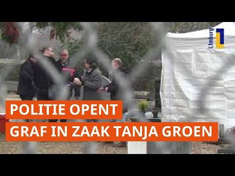 Beelden: politie opent graf in zaak Tanja Groen