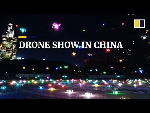 More than 500 drones light up the night sky in southern China drone show