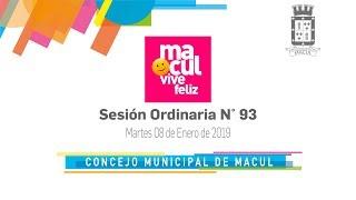 Concejo Municipal de Macul N° 93 / 08-01-2019