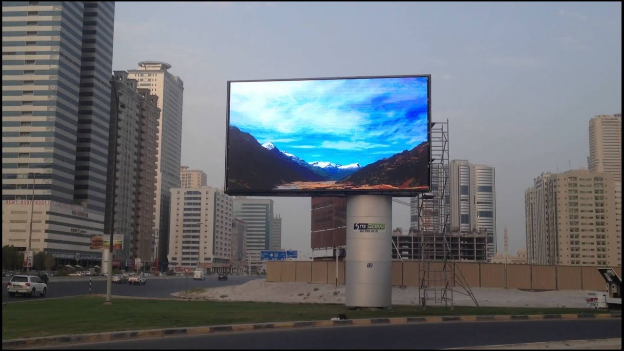 Flat outdoor led screen the ustorm by company led world for Exterior led screen