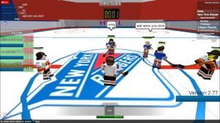 Roblox NHL Calgary flames VS NY ranger part 1