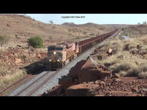 Biggest Railway Bridge In The Pilbara: Rio Tinto Deepdale Iron Ore Railway