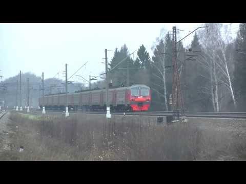 Электропоезд ЭД4М-0050 перегон Столбовая - Львовская