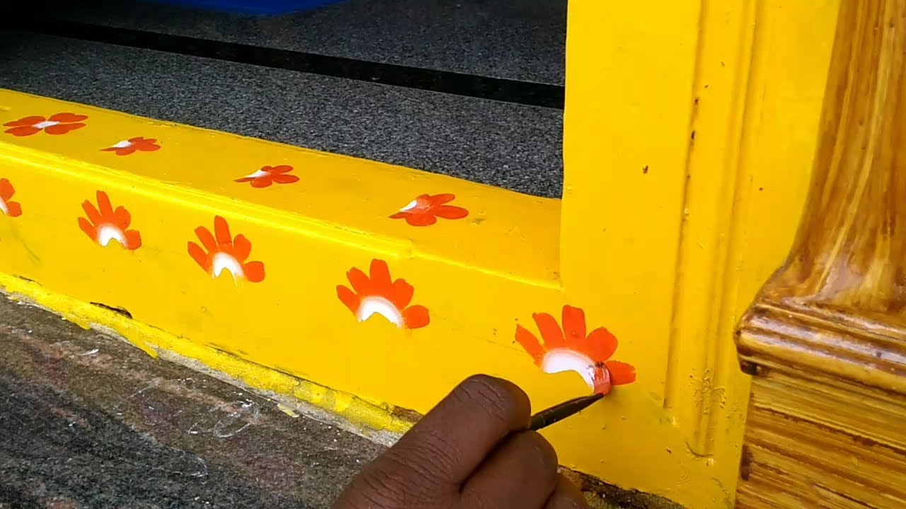 Door threshold/groundsel painting design ideas Asian paints