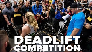 Quest Deadlift Competition   AS MANY REPS AS POSSIBLE!