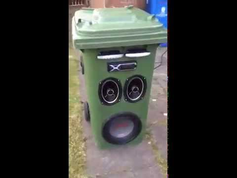 Homemade Trash Can Audio System Videos