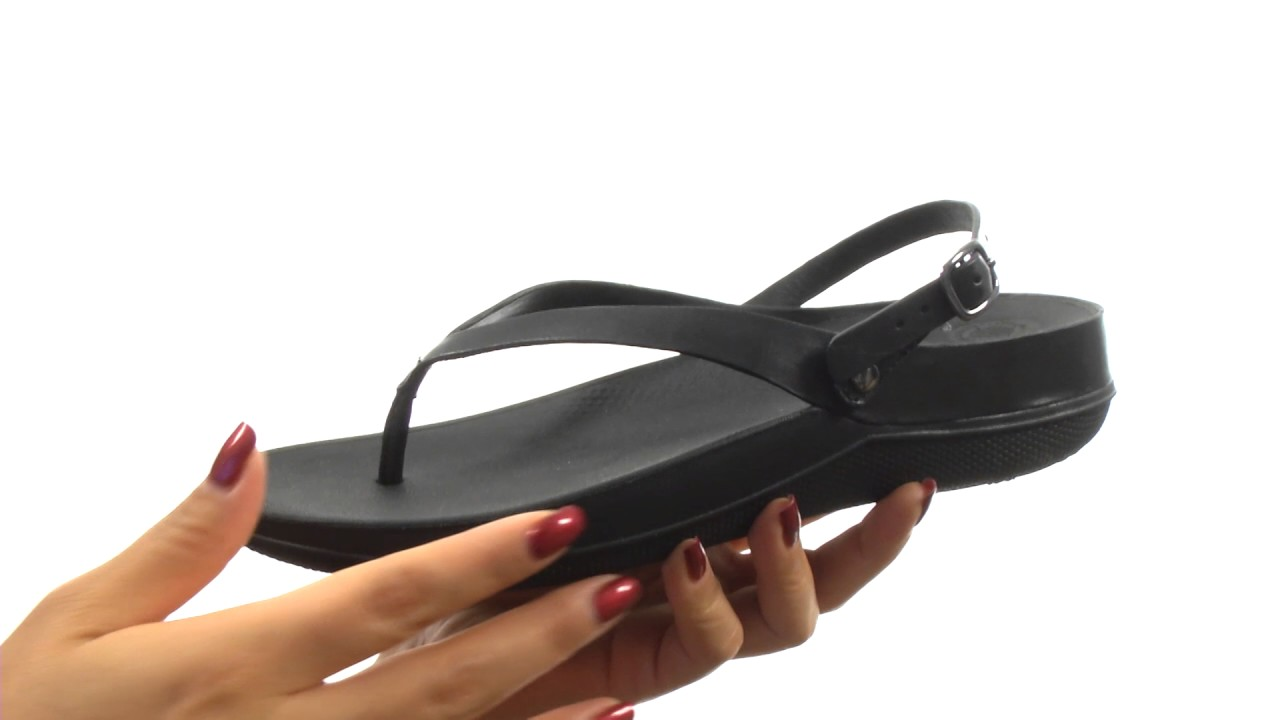 a76315c11fe7 FitFlop Flip Leather Sandals SKU 8850512 - YouTube
