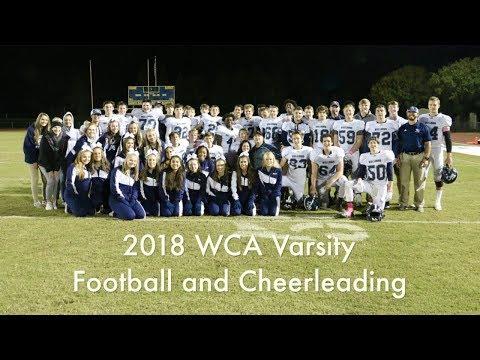 2018 Wake Christian Academy Football & Cheer Highlights