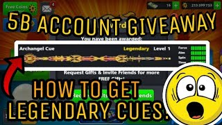 8 Ball Pool - GIVEAWAY 5 BILLION COINS!! - Level 250 - Legendary Cues ACCOUNT!! *GIVEAWAY CLOSED*