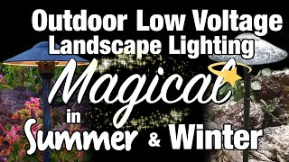 led low voltage outdoor landscape lighting magical in summer winter by total outdoor lighting